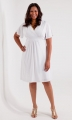 PRE ORDER: Classic V-Neck Dress - White