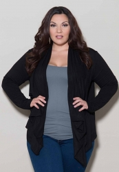 PRE ORDER: Eternity Wrap Cardigan - Black
