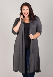 PRE ORDER: Parker Long Cardigan - Charcoal