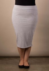 PRE ORDER: Fawn Midi Skirt - Light Heather Grey