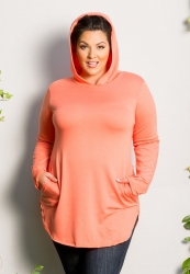 PRE ORDER: Helen Hooded Tunic - Coral