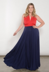 PRE ORDER: Eternity Convertible Duo Maxi Dress - Red Navy