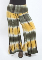 PRE ORDER: Printed Jersey Palazzo Pants - Forest Tie Dye