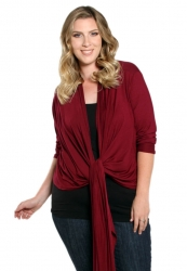 PRE ORDER: Eternity Wrap Cardigan - Cranberry