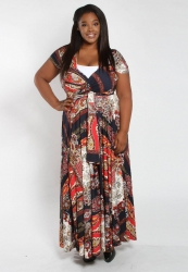 PRE ORDER: Eternity Convertible Printed Maxi Dress - NavyPaisley