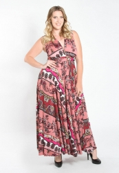 PRE ORDER: Eternity Convertible Printed Maxi Dress -MauvePaisley