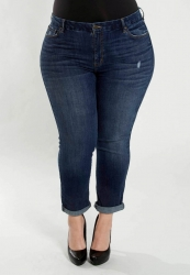 PRE ORDER: Crop Denim Jean - Dark Wash