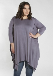 PRE ORDER: Samantha Oversized Tunic - Steel Grey