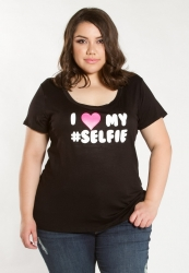 PRE ORDER: Love My Selfie Graphic Tee - Black