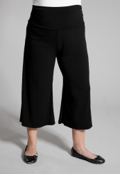 PRE ORDER: Classic Jersey Gaucho Pants - Black
