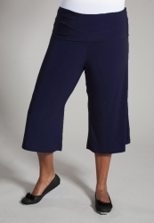PRE ORDER: Classic Jersey Gaucho Pants - Navy