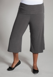 PRE ORDER: Classic Jersey Gaucho Pants - Grey
