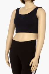 PRE ORDER: Plus Size Racer Back Sports Bra - Black