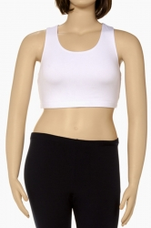 PRE ORDER: Plus Size Racer Back Sports Bra - White