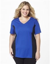 PRE ORDER: Plus Size AirLight Sport Tee - Royal/Black Contrast