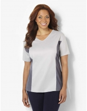PRE ORDER: Plus Size AirLight Sport Tee - Light/Dark Silver Cont