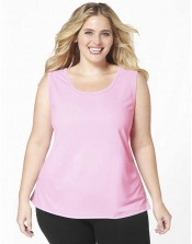 PRE ORDER: Plus Size AirLight Sport Tank - Baby Pink