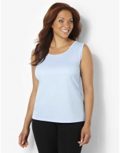 PRE ORDER: Plus Size AirLight Sport Tank - Powder Blue