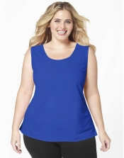 PRE ORDER: Plus Size AirLight Sport Tank - Royal