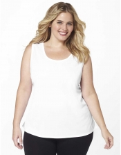 PRE ORDER: Plus Size AirLight Sport Tank - White