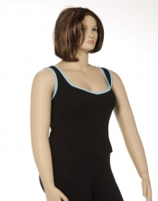 PRE ORDER: Sweetheart Sports Cami Bra - Black w/Aqua Trim