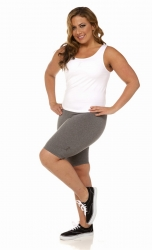PRE ORDER: Plus Size Bike Shorts - Heather Grey
