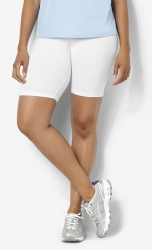 PRE ORDER: Plus Size Bike Shorts - White