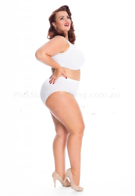 PRE ORDER: Plus Size Seamless Knickers - White_1 (click to Enlarge)