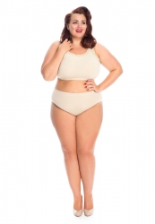 PRE ORDER: Plus Size Seamless Knickers - Natural