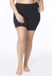 PRE ORDER: Plus Size Anti Chafing Short Leg Knickers - Black