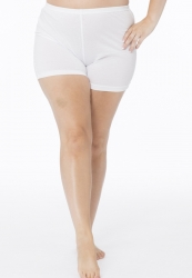 PRE ORDER: Plus Size Cotton Short Leg Knickers - White