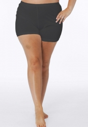 PRE ORDER: Plus Size Cotton Short Leg Knickers - Black