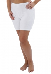 PRE ORDER: Plus Size Cotton Long Leg Knickers - White