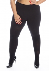 PRE ORDER: Plus Size Genuine Tall Fit 180 Denier Tights - Black
