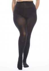 PRE ORDER: Plus Size 60 Denier Ladder Resistant Tights - Black