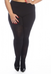PRE ORDER: Plus Size Thick Cotton Tights - Black