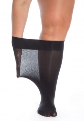 PRE ORDER: Plus Size Super Wide 20 Denier Knee Highs - Black