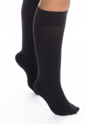 PRE ORDER: Plus Size Super Wide 120 Denier Knee Highs - Black