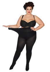 PRE ORDER: Plus Size 90 Denier Tights - Black