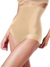 PRE ORDER: Designer Plus Size Shapewear High Waist Brief - Nude