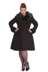 PRE ORDER: Rock Noir Coat - Black and Green