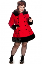 PRE ORDER: Sarah Jane Coat - Red and Black