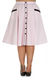 PRE ORDER: Martie 50s Skirt - Pink and Black Dots