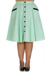 PRE ORDER: Martie 50s Skirt - Mint and Black Dots