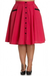PRE ORDER: Martie 50s Skirt - Red and Black Dots