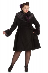 PRE ORDER: Rock Noir Coat - Black and Purple