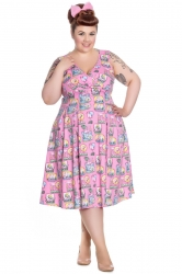 PRE ORDER: Maxine 50's Dress - Pink