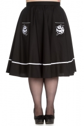 PRE ORDER: Full Moon Skirt - Black with White