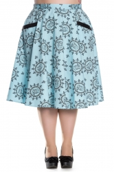 PRE ORDER: Sailor Girl 50's Skirt - Pastel Blue