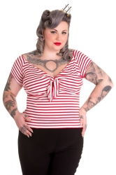 PRE ORDER: Dolly Top - White and Red